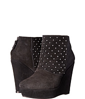 The Kooples - Ankle Boots in Velvet Effect Leather and Studs
