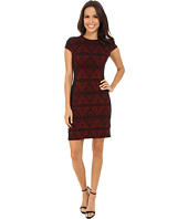 Karen Kane - Knit Jacquard Contrast Dress