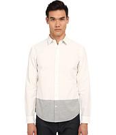 Vince - Long Sleeve Melange Blocked Shirt
