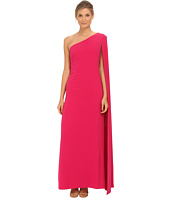JILL JILL STUART - One Shoulder Cape 2-Ply Crepe Gown