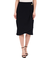 Adrianna Papell - Pleated Wrap Skirt with Metal Tab