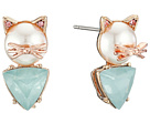 Pearl Critters Cat Stud Earrings