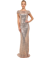 Badgley Mischka - Stretch Sequin Cowl Back Gown