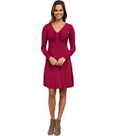 Mod-o-doc - Cotton Modal Spandex Jersey Long Sleeve Front Shirred Dress