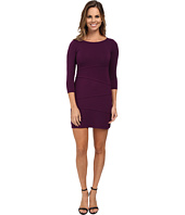 Mod-o-doc - Cotton Modal Spandex Jersey 3/4 Sleeve Asymmetrical Tiered Dress