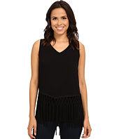 B Collection by Bobeau - Layer Fringe Tank Top