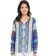 Hale Bob - Mojitos After Dark Flutter Sleeve Silk Tunic