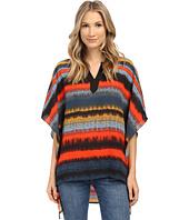 kensie - Noisy Stripes Poncho Top KS1K4492