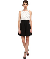 Aidan Mattox - Beaded Popover Top with Solid Skirt