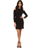 Aidan Mattox - Long Sleeve Cocktail Dress w/ Seam Detail & Peekaboo Shoulder