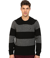 Original Penguin - Long Sleeve Jersey Wide Striped Crew w/ Cable Raglan Jersey