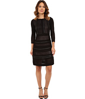 Calvin Klein - Sweater Dress Faux Leather Piping