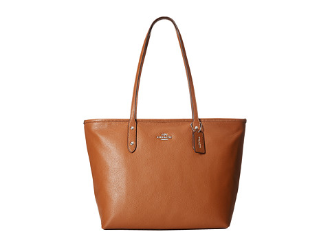 COACH Pebbled City Zip Tote