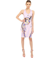 Just Cavalli - Fitted Printed Jersey Tank Dress Leo Deco Print