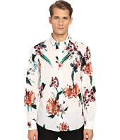 Just Cavalli - Tropical Ikat Print Long Sleeve Woven
