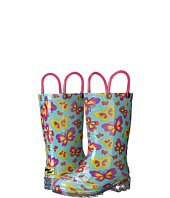 Western Chief Kids - Flutter Fierce Lighted Rain Boot (Toddler/Little Kid)