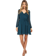 Jessica Simpson - Chiffon Long Sleeve Wrap Dress