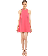 Versace Collection - Coral A-Line Dress with Hardware Detail