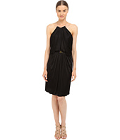 Versace Collection - Satin Halter Dress w/ Chain Detail