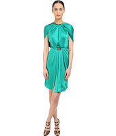 Versace Collection - Emerald Satin Halter Dress w/ Chain Detail
