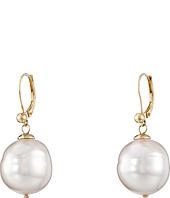 Majorica - 16mm Baroque Pearl Eurowire Earrings