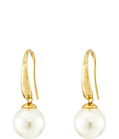 Majorica - French Wire Round Pearl Drop Earrings