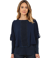 Miraclebody Jeans - Mixed Double Layer Long Sleeve Tee w/ Body-Shaping Inner Shell