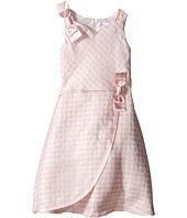 Us Angels - Brocade Sleeveless Dress w/ Satin Ribbon Trim (Toddler/Little Kids)