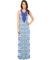 Hale Bob - Eye Candy Maxi Dress w/ Crochet Neckline