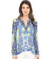 Hale Bob - Eye Candy Long Sleeve Silk Blouse