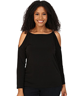 MICHAEL Michael Kors - Plus Size Oval Link Cold Shoulder Top