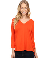 MICHAEL Michael Kors - Stud Shoulder 3/4 Sleeve V-Neck