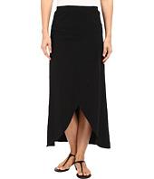 Mod-o-doc - Heavier Slub Jersey Faux Wrap Maxi Skirt
