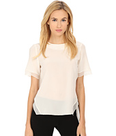 Prabal Gurung - Crepe De Chine Silk Short Sleeve Top