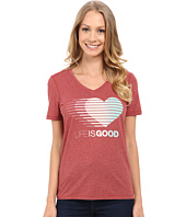 Life is Good - LIG Heart Stripe Cool Vee
