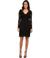 Karen Kane - Long Sleeve Scallop Lace Dress