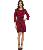 Laundry by Shelli Segal - Emilio Border Boat Neck Dress