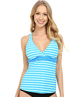 Next by Athena - Barre To Beach Superwoman Racerback Wrap Tankini (D-Cup)