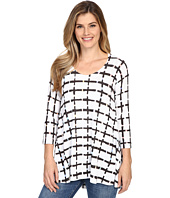 Nally & Millie - White Grid Tunic