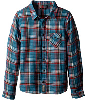 IKKS - Plaid Madras Shirt with Contrast Trim (Little Kids/Big Kids)