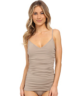 Vince Camuto - Draped Swimdress w/ Removable Soft Cups and Adjustable Straps