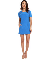 Michael Stars - Park Place French Terry Short Sleeve Dress w/ Mesh