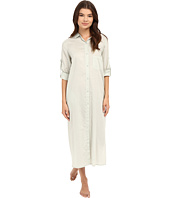 Yummie - Cotton Voile Mandarin Button Down Dress w/ Side Vents