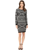 Jessica Simpson - Long Sleeve Knit Dress with Aztec Print