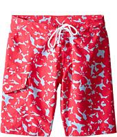 Oscar de la Renta Childrenswear - Abstract Floral Surfer Boardshorts (Toddler/Little Kids/Big Kids)