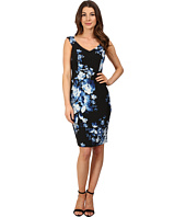 Adrianna Papell - Print Sweetheart Neckline Printed Sheath Dress