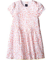 Oscar de la Renta Childrenswear - Floral Ikat Cotton Short Sleeve Pin Tuck Dress (Toddler/Little Kids/Big Kids)