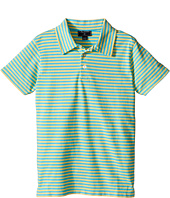 Oscar de la Renta Childrenswear - Striped Short Sleeve Polo (Toddler/Little Kids/Big Kids)