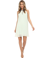 Adrianna Papell - Chiffon Veiled Banded Sheath Dress