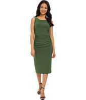 KAMALIKULTURE by Norma Kamali - Shirred Waist Dress Below Knee